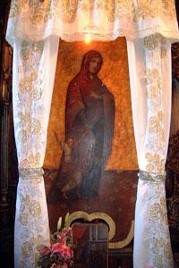 Icoana unicat de la Sihastria Voronei - Maica Domnului cu Domnul Iisus tinut de mana